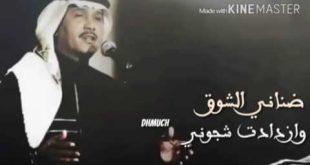ضناني الشوق كلمات , كلمات اغنية ضناني الشوق