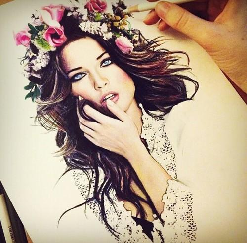 صورة رسومات بنات جميلة , اجمل رسومات بنات 3253 4