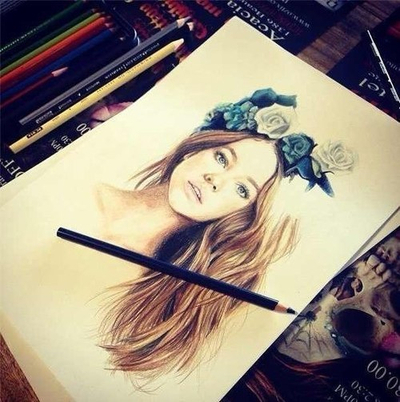 صورة رسومات بنات جميلة , اجمل رسومات بنات 3253 5