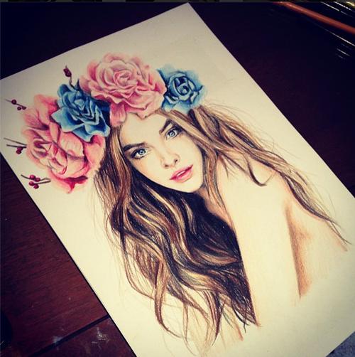 صورة رسومات بنات جميلة , اجمل رسومات بنات 3253
