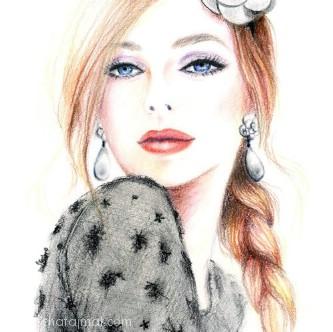 صورة رسومات بنات حلوه , اجمل رسومات البنات