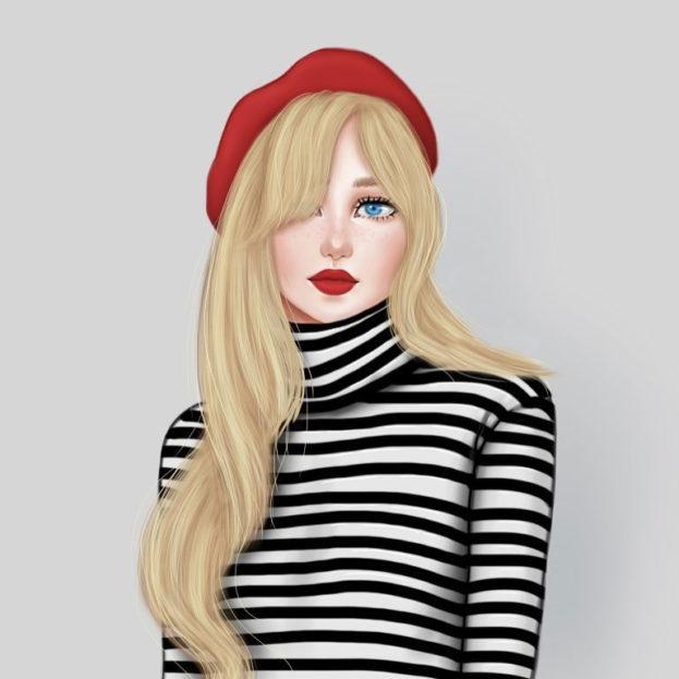 صورة رسومات بنات حلوه , اجمل رسومات البنات 5731 8