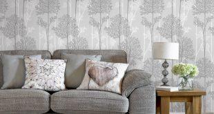 صوره ورق جدران رمادي , ورق حائط بالوان فخمه