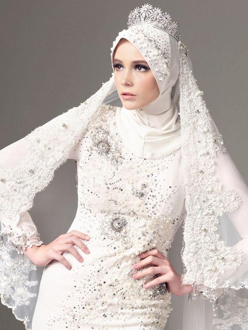 بالصور فساتين زفاف محجبات , اجدد تفصيلات وتصاميم فساتين الافراح 1998 1
