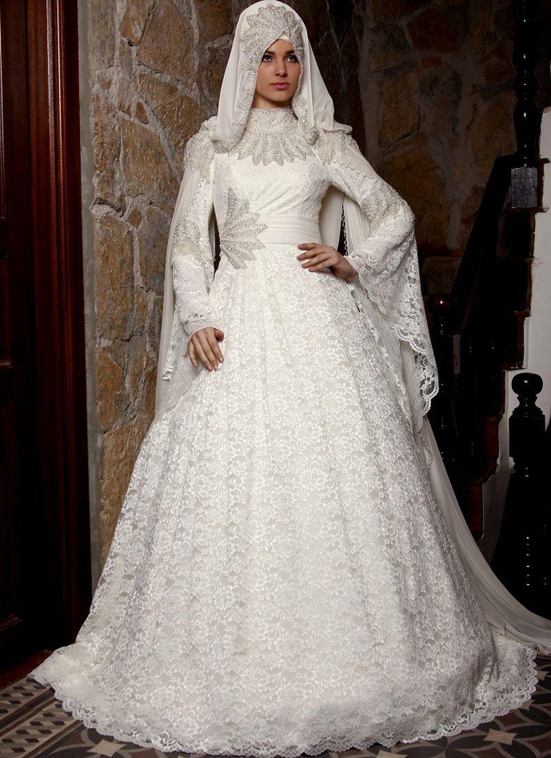 بالصور فساتين زفاف محجبات , اجدد تفصيلات وتصاميم فساتين الافراح 1998 5