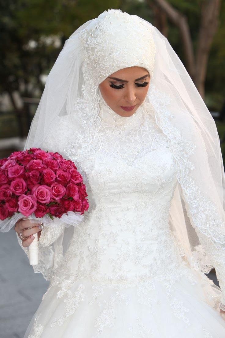 بالصور فساتين زفاف محجبات , اجدد تفصيلات وتصاميم فساتين الافراح 1998 6
