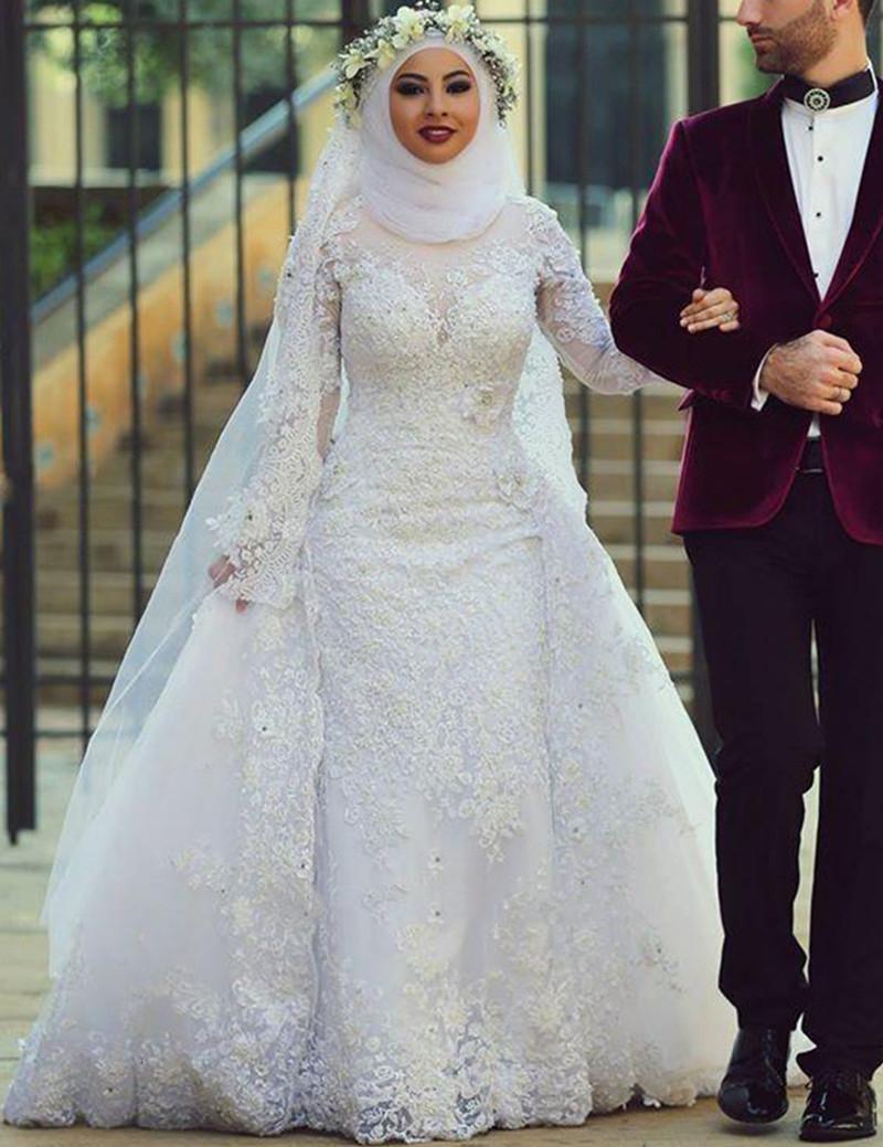 بالصور فساتين زفاف محجبات , اجدد تفصيلات وتصاميم فساتين الافراح 1998 8