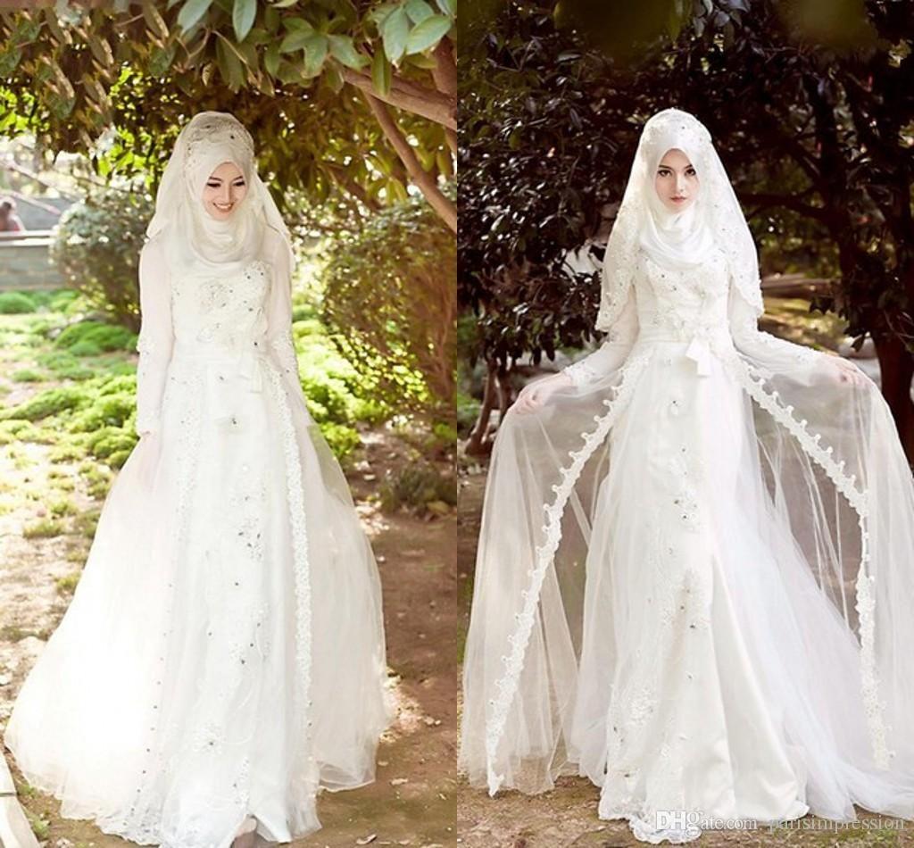 بالصور فساتين زفاف محجبات , اجدد تفصيلات وتصاميم فساتين الافراح 1998 9
