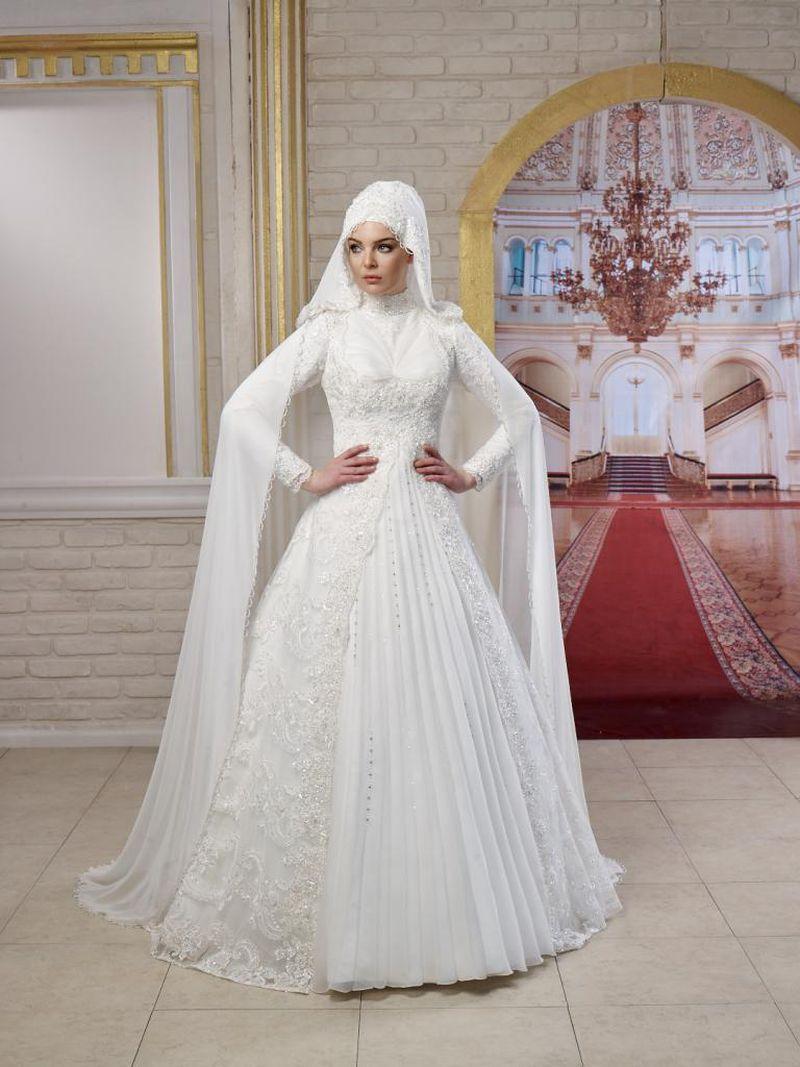 صوره فساتين زفاف محجبات , اجدد تفصيلات وتصاميم فساتين الافراح