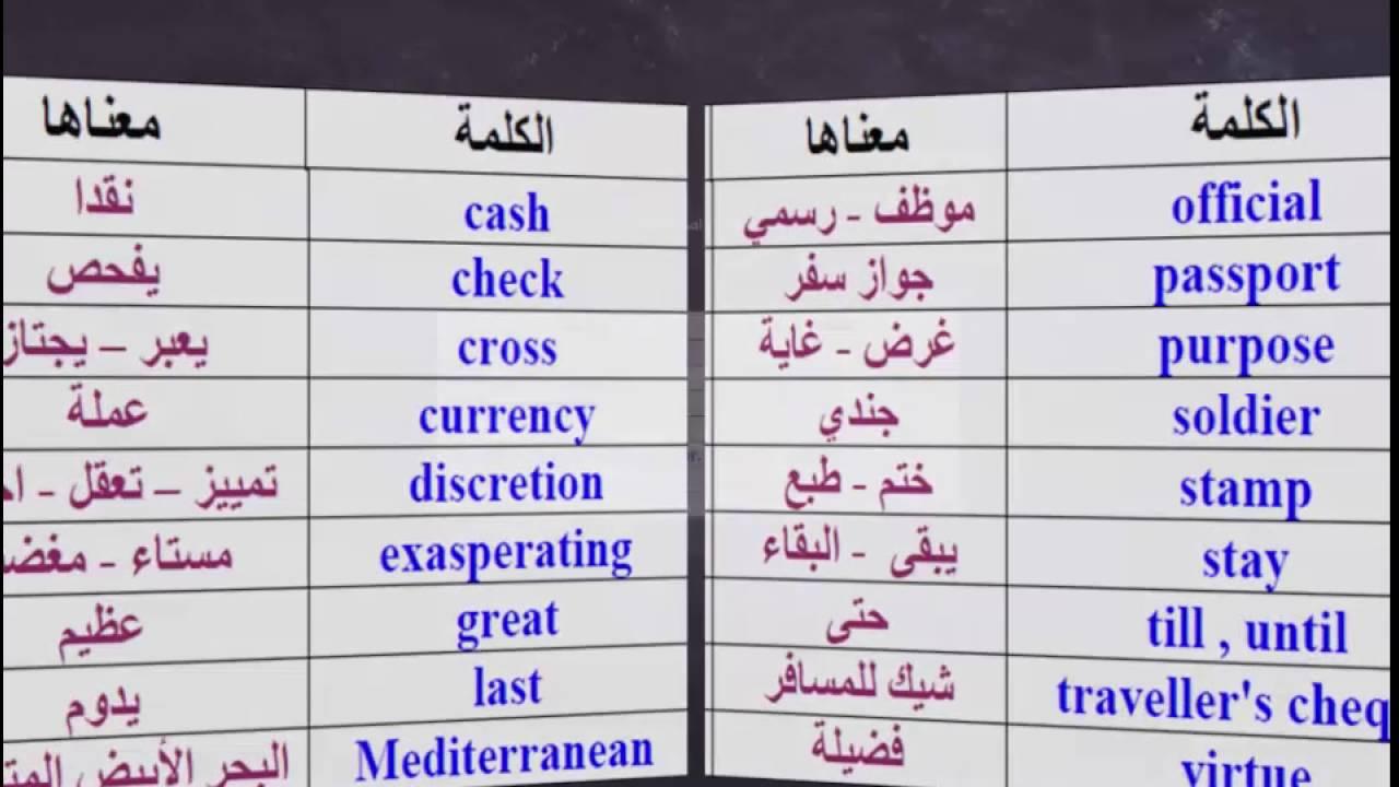 بالصور كلمات انجليزية مهمة , تعلم اللغة الانجليزية 2458