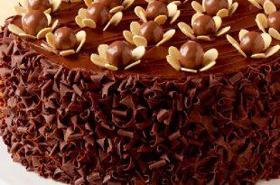 صورة طريقة تزيين كيكة الشوكولاته , تعرف على اسهل طريقة لتزيين كيكة الشكولاته