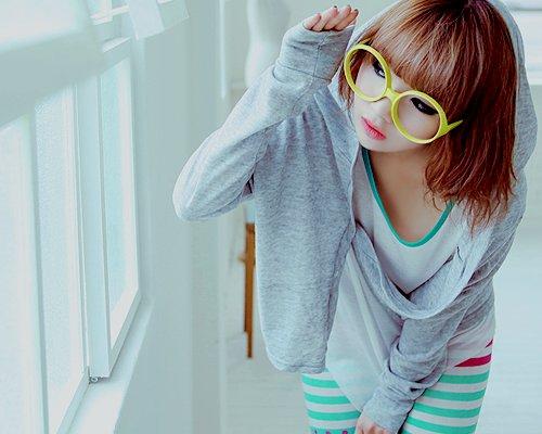 بالصور بنات كوريات كيوت بالنظارات , اجمل بنات لطيفه وكيوت من كوريا 3742 6