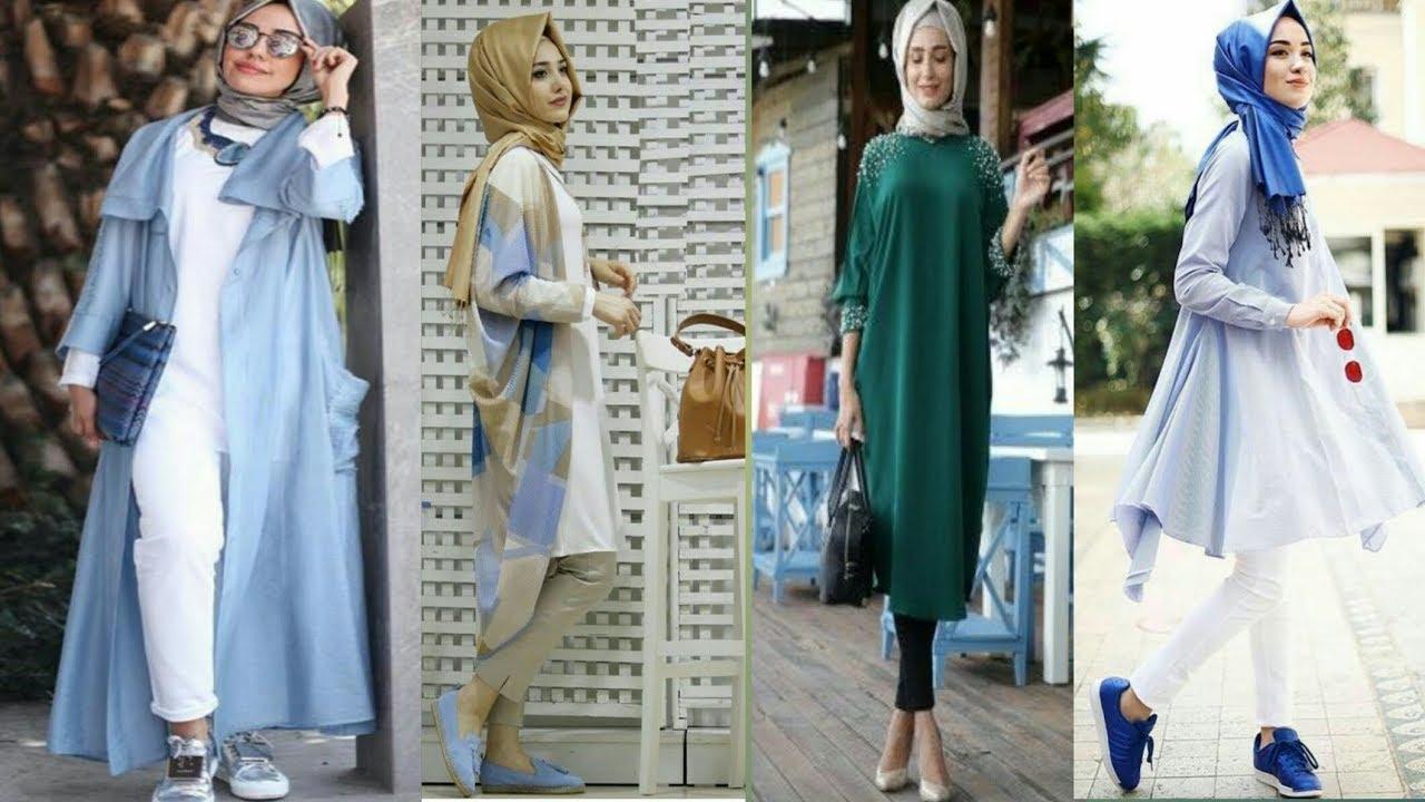بالصور موضة صيف 2019 للمحجبات , موديلات لملابس المحجبات 3806 6