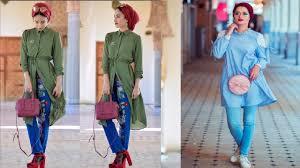 بالصور موضة صيف 2019 للمحجبات , موديلات لملابس المحجبات 3806 7