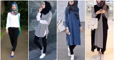 بالصور موضة صيف 2019 للمحجبات , موديلات لملابس المحجبات 3806