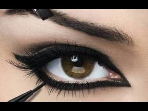 صور مكياج عيون خليجي , طريقة وضع مكياج خليجي للعين