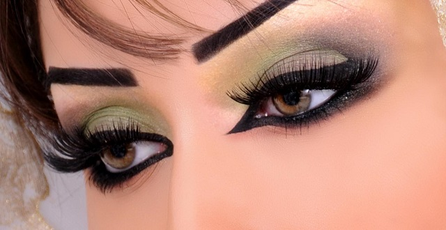 بالصور مكياج عيون خليجي , طريقة وضع مكياج خليجي للعين 3813 2