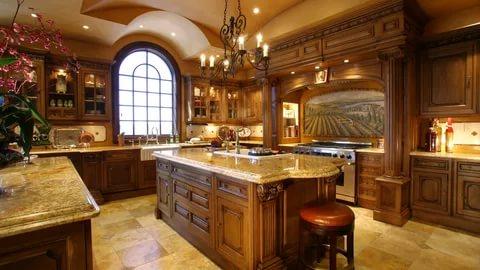 بالصور ديكور المطبخ , مطابخ خشبية بديكورات مودرن 3934 11