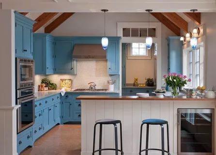 بالصور ديكور المطبخ , مطابخ خشبية بديكورات مودرن 3934 9