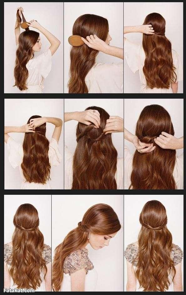 بالصور تسريحات للشعر الطويل بسيطة , الشعر الطويل وتسريحاته 2019 الجميلة 3954 11