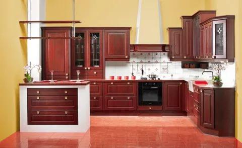 بالصور الوان مطابخ خشب , الوان متنوعة للمطابخ الخشب 4181 3