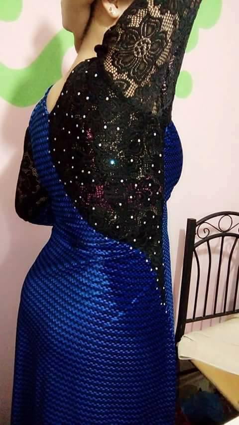 صورة فساتين قطيفة بالدونتال , احلى فستان قطيفة