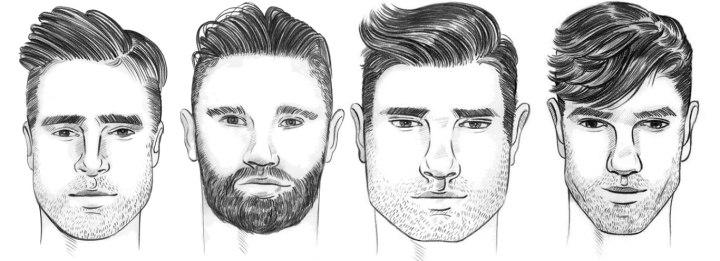 صور قصات شعر للرجال حسب الوجه , قصة شعر رجالي جميلة