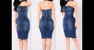 بالصور فساتين جينز قصيره , ارق الفساتين الجينز 14629 12 310x165