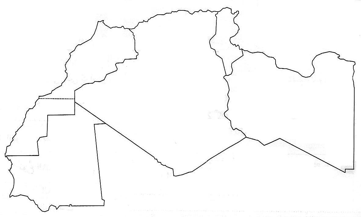 خريطة المغرب العربي اكثر