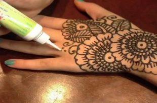 صور تعليم رسم الحناء على اليد للمبتدئين , اسهل رسومات الحنة