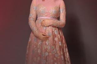 صور صور فساتين للحوامل , فستان سهرة فخم يناسب الحوامل