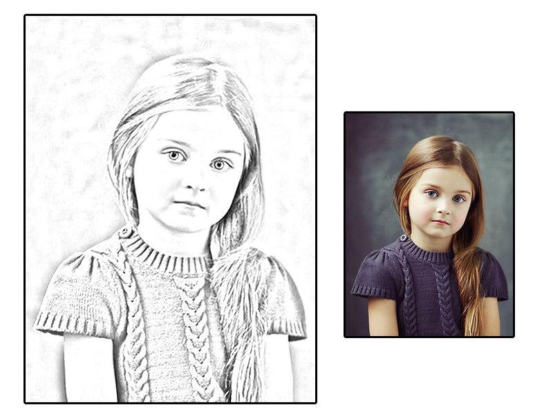 تحويل الصور الى رسم البرامج والفوتو شوب روح اطفال