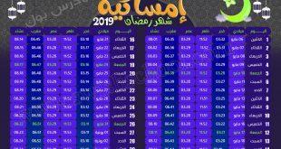 صورة امساكية رمضان 2019 مصر, الاحتفال بشهر رمضان