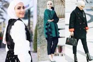صورة ملابس شتوية للمحجبات , واو اروع الملابس الانيقة للمحجبات