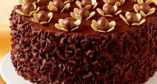 صورة طريقة تزيين الكيك, تزيين الكيك بصوص الميرور