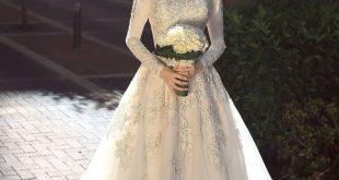 صورة فساتين اعراس للمحجبات, اروع واشيك فساتين للعروسه المحجبه