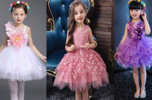 صورة دلعى بنوتك باشيك فستان رقيق , اروع فساتين اطفال